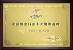 中国陶瓷陶瓷行业十大陶瓷品牌