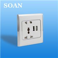��Ӧ ����USB002-1A USB����ǽ�ڿ��� ¥������