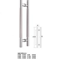 湖北玻璃门门拉手武汉型材门不锈钢拉手