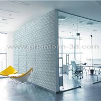 供应办公室背景墙 隔断装饰玻璃 3D幻影玻璃