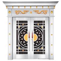 宏福莱豪华不锈钢罗马柱大门别墅大门不锈钢大门