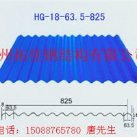 专业供应YX18-63.5-825彩钢压型板