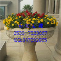 莘县黄锈石花盆花钵|五莲红花盆|石材花钵
