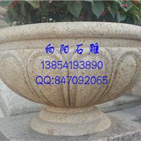 洛阳石雕厂家批发园林景观花钵石雕