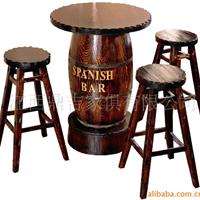 供应酒吧桌椅 实木酒吧桌椅 咖啡厅桌椅-861