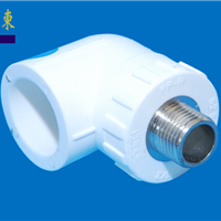 PP-R热熔、冷热给水管件 外螺纹弯头 白色