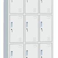 供应华良铁柜-九门储物柜*文件柜批发