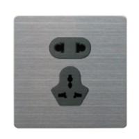 供应高档不锈钢面板墙壁开关插座,1件起批
