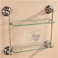 供应:铜质及不锈钢双层玻璃置物架