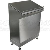 不锈钢机箱机柜,钣金加工,单斜面式控制台