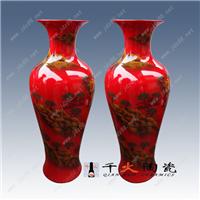 中国红陶瓷大花瓶