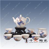 青花手绘缠枝花卉高档陶瓷茶具