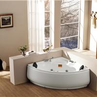 供应厂家直销按摩双人浴缸扇形亚克力正品水疗浴缸卫浴洁具