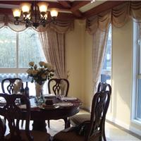 别墅餐厅窗帘 简欧风格 窗帘生产厂家直销
