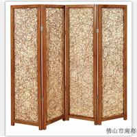 绿欣轩中式藤编折叠屏风隔断玄关0061