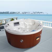 供应酒店户外按摩冲浪多功能圆形浴缸水疗浴缸别墅浴缸卫浴厂家直