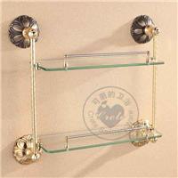 双层玻璃置物架、香皂碟架、纸巾架