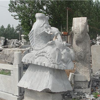 供应石雕喷泉风水球,海豚鱼,鸿福轮