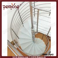 供应现代不锈钢旋转楼梯/阁楼玻璃踏板旋转楼梯