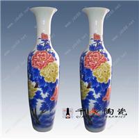 供应瓷器大花瓶 高档酒店摆设陶瓷大花瓶