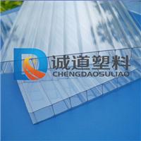 8mm透明双层中空阳光板 雨棚 遮阳棚采光板