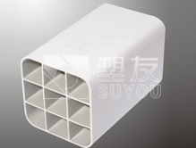 供应PVC九孔栅格管,格栅状九孔管