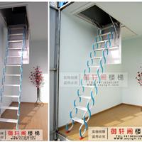 批发供应复式隐形小阁楼伸缩楼梯一件代发