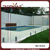 供应别墅泳池不锈钢玻璃安全护栏DMS-B2836