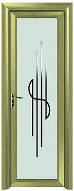 供应铝合金加钢化双层玻璃高档卫生间门