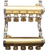 供应地暖分水器黄铜25主管 2-10路
