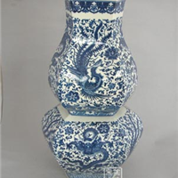 供应青花瓷四方瓶 陶瓷四方罐 青花瓷厂家
