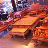 老挝大红酸枝卷书沙发,交趾黄檀卷书沙发