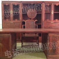 供应丝翎檀雕办公桌,老挝大红酸枝办公桌
