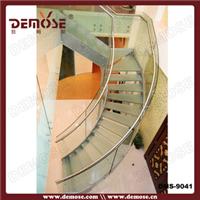 供应现代别墅不锈钢结构玻璃楼梯DMS-9041