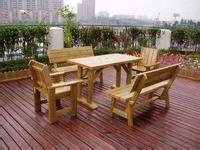 供应青岛防腐木家具