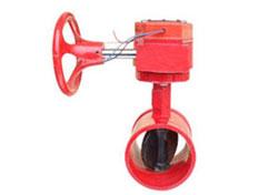 XD381X涡轮沟槽信号蝶阀产品优与进口质量