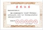 环渤海荣誉证书