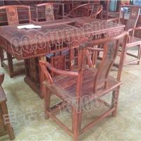 老挝大红酸枝泡茶桌,交趾黄檀泡茶桌
