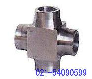 供应对焊式四通 不锈钢对焊式四通