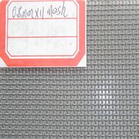 供应0.6mm14目喷色安全窗纱