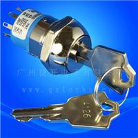 JK216电子锁 多档电源锁进口钥匙开关反弹电子锁控制器锁