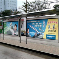 桂林市公交站点候车亭整体设计,广西南宁公交候车亭更换灯箱价格