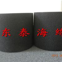 供应黑色防震海绵筒,圆柱形产品定位海绵筒