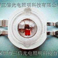 供应3W四脚RGB灯珠质保三年采用光宏芯片