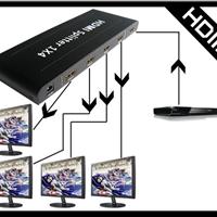供应hdmi分配器高清1080P一分四工厂专业