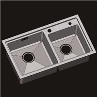 304不锈钢水槽 洗菜盆 不锈钢手工盆R8045