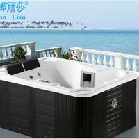 供应多人户外按摩冲浪亚克力方形浴缸