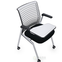 折叠培训椅,网布培训椅,带写字板培训椅