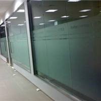 供应北京玻璃磨砂膜镂空刻字防撞条报价