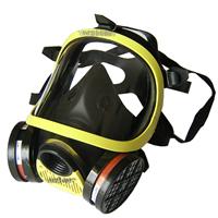 供应全面罩防毒面具 双滤盒防毒面罩